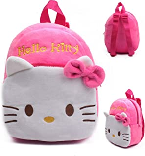High Quality Rose Red Hello Kitty Plush Cartoon Toy Backpack Girl Character School Bag Gift For