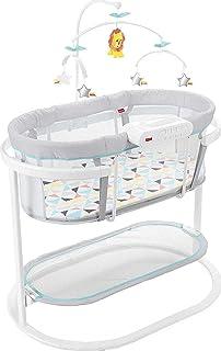 Fisher-Price - Cuna mecedora con movimientos suaves y calmantes para bebés para dormir, con móvil de lujo colgante y dos modos de proyección de iluminación