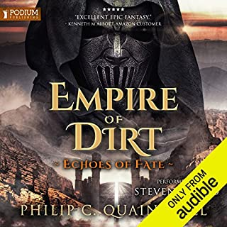 Empire of Dirt     Echoes of Fate, Book 2              Auteur(s):                                                                                                                                 Philip C. Quaintrell                               Narrateur(s):                                                                                                                                 Steven Brand                      Durée: 14 h et 7 min     8 évaluations     Au global 4,9