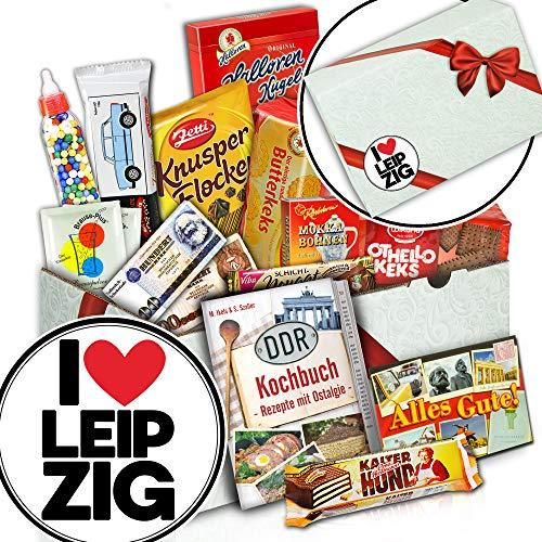 I love Leipzig - DDR Süßigkeiten Box - Geschenk Leipzig