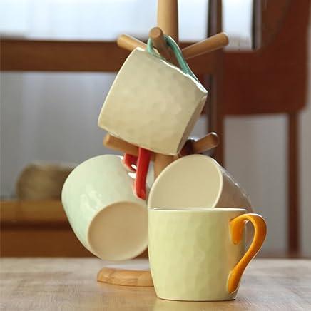 Kreative Keramik Mark Cup Pottbells Haushalt Einfache Frühstück Tasse Tasse Tasse Student Kaffee Milch Tasse Vier-Farbig Set B07CNMGC4V | Online Store  122f91