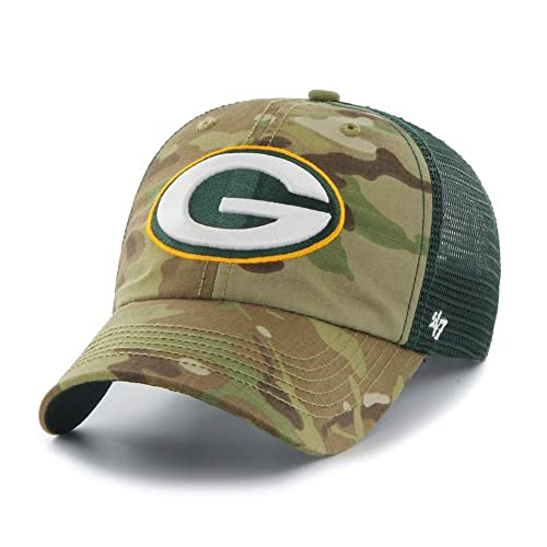e1d3258e9cdff1 Green Bay Packers Hat Flex Fit Camouflage Mesh Compass Closer 12134