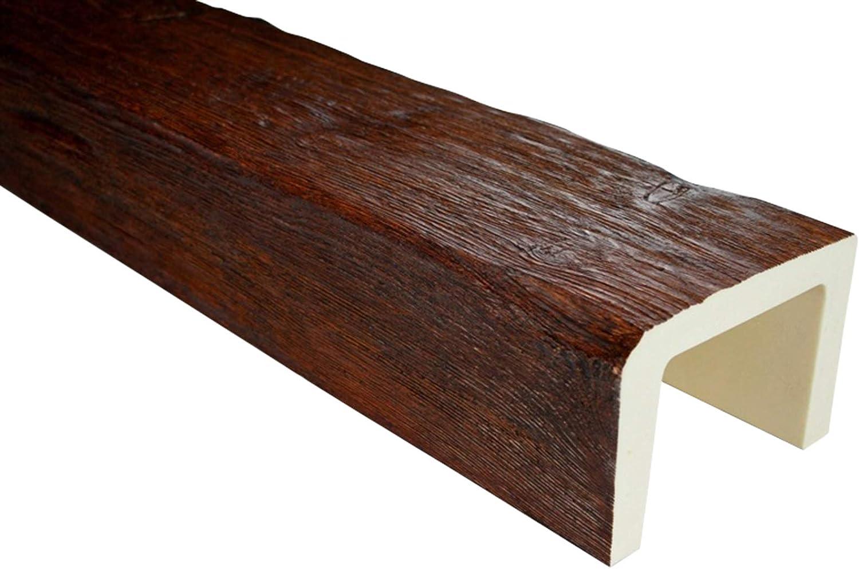 2 metros ED105.W 190 x 130 mm Aspecto de madera Viga Poliuretano Deco Wood