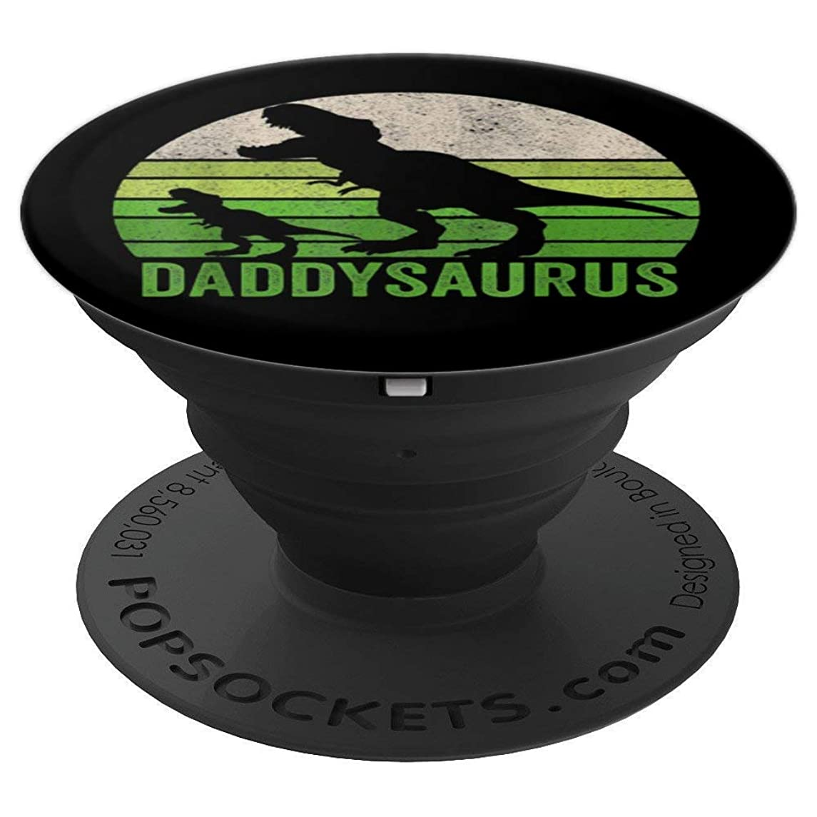 Funny Daddy Dinosaur T Shirt, Daddysaurus Fathers Day Shirts - PopSockets Grip and Stand for Phones and Tablets