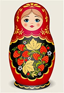 DIY Handwork Store 5D Handmade Full Round Drills Diamond Painting Kit for Adult Russian Doll Pattern Cross Stitch Mosaic Arts Crafts Gift Home Decor(11.81''x 15.75'')