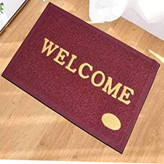 Ved Decor PVC Rubber Anti Skid Welcome Door Mat -Set of One Pc