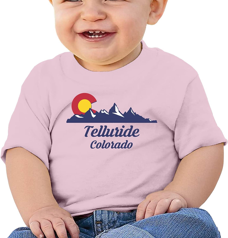 KizzCllo2 City of Telluride Girl Boybabys Cotton T-Shirt T-Shirt
