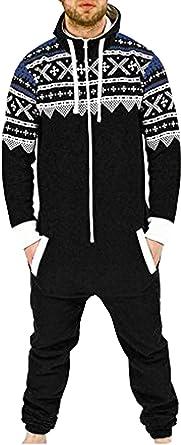 Juicy Trendz® Mens Onesie Jumpsuit All in One Piece Aztec Printed Unisex Sleepsuit