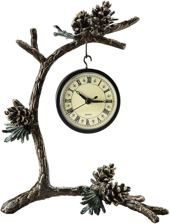 SPI Home Pinecone & Branch Clock