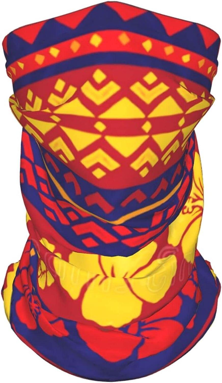Tribal Hawaiian Ethnic Print3 Neck Gaiter Multipurpose Headwear Ice Silk Mask Scarf Summer Cool Breathable Outdoor Sport 4 Pcs