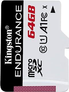 Kingston High Endurance MicroSD SDXC Flash Memory Card High Performance, 1080P, Full HD, Up to 95MB/S Read 64GB