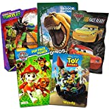 Toddler Board Book Set for Boys Girls -- Bundle Includes 5 Toddler Board Books Featuring Paw Patrol, Toy Story, Disney Cars, Good Dinosaur and Teenage Mutant Ninja Turtles