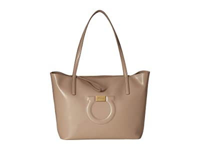 Salvatore Ferragamo City Tote (Cumin) Handbags