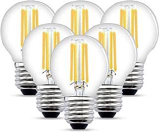 HISAYSY Bombilla LED E27 4W G45 Bombilla de pelota de golf LED 470Lm 40W Reemplazo Blanco Cálido 2700K (6 Paquetes) [Clase energética A++] (4)