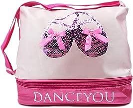 DANCEYOU Professional Dance Bag for Little Girls, Duffel Bag for Dance Equipment