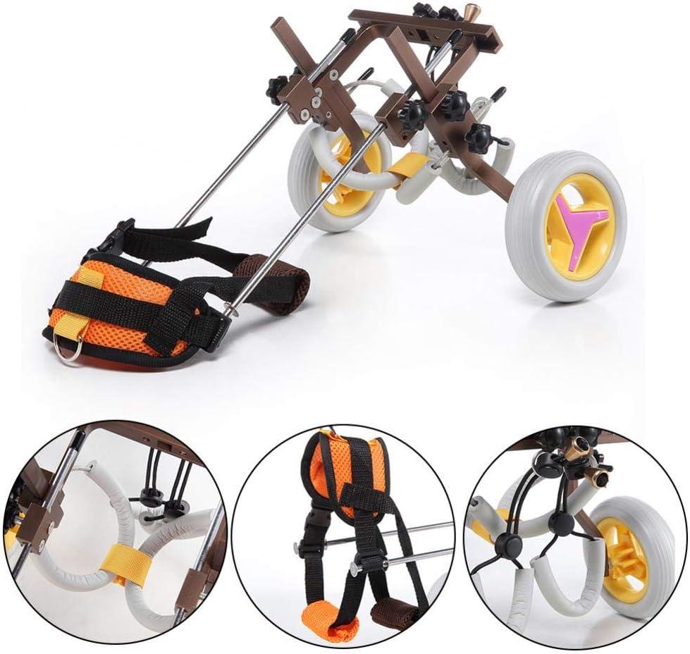 patas traseras iBoosila silla de ruedas ajustable Silla de ruedas para perro par/álisis