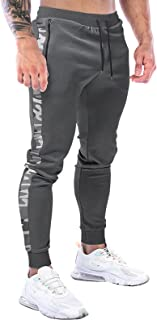 Halfword Men's Jogger Sweatpant Slim Fit Gym Pant Running Workout Trouser Casual Tracksuit Bottoms Zip Pockets