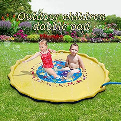 wekold Outdoor Inflatable Garden Play Water Spray Mat Kids Sprinkler Cushion Toy Pool Rafts & Inflatable Ride-ons