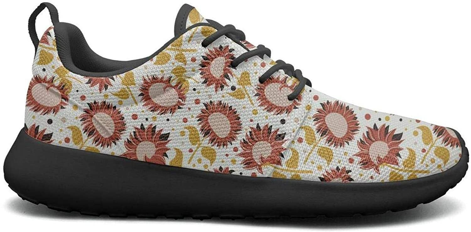 CHALi99 Casual Female's Lightweight shoes Sunflowers with Bees Sunflower Gifts Loafers Trail Running Quick Dry