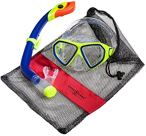 Aqua Lung Sport La Costa Junior Pro Dive Kinder 2er Set (Tauchmaske & Schnorchel) inkl. Beutel - Blue