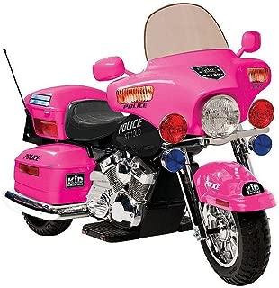12V Police Motorcycle in Pink