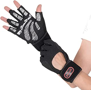 paissit Weight Lifting Glove,Workout Gloves for Men& Women,Training Gloves with Wrist Support for Fitness Exercise Weight Lifting Gym,Home Use with Short Wraps Fingerless
