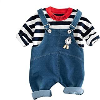 Zipper Jacket Outerwear Gyratedream Baby Boy Clothes Set Tracksuits for Girls Cotton T-Shirt Jeans Denim Trousers 3Pcs Outfits for 0-4 Years Kids