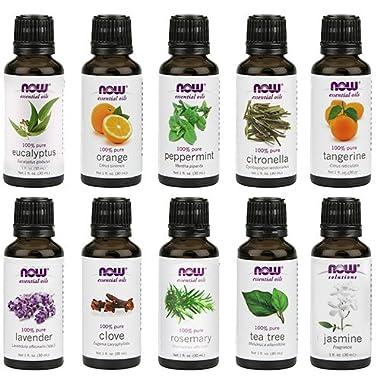 NOW Foods Essential Oils 10-Oil Variety Pack Sampler - 1oz Each