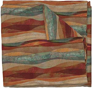 Roostery Duvet Cover, Travertine Sandstone Stripes Turquoise Arizona Sw Stone Southwestern Print, 100% Cotton Sateen Duvet Cover, King