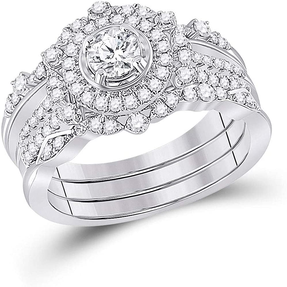 Dazzlingrock Max 52% OFF Collection 14kt White Gold Wed Diamond Bridal Round San Diego Mall