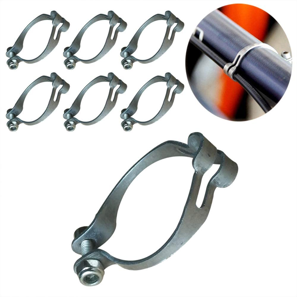 Yuauy Rapid rise Recommended 6 Sets Metal Ring Firmly to MTB Cable Bra Bike Frame Guide