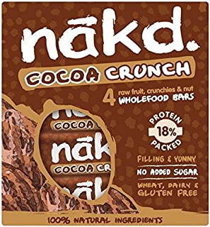 Nakd Free From Cocoa Crunch Fruit & Nut Bar Multipack - 4 x 30g