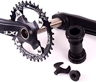 BUCKLOS ?US Stock? IXF 104 BCD 30-52T Mountain Bike Crankset (Crank Chainring BB Bolts), Aluminum Alloy Crank Set Narrow Wide Chainring Bottom Bracket Bolts MTB Road Bicyle Chainset
