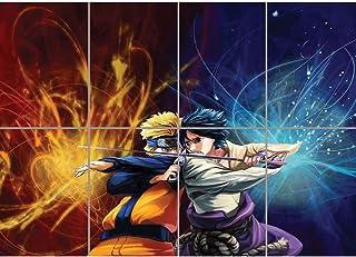Doppelganger33 LTD Naruto Manga Anime Fight Sword Japan Cartoon Wall Art Multi Panel Poster Print 47x33 inches