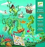DJECO- Pegatinas Las Aventuras en el mar Globos Unisex-Infantil, Multicolor (38953)