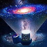 Lampara proyector estrellas bebe - Proyector estrellas techo con cable USB proyector luz...