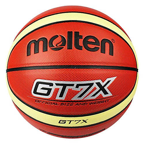 Molten GT7X Official Size #7 PU Leather in/Outdoor Training Basketball Match Ball,Basketball Size 7