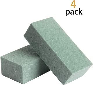 HAPY SHOP Floral Dry Polystyrene Blocks 4 Pack Green Floral Foam Bricks Arts & Crafts Base for Artificial Floral Dried Arrangements Decorations,Lightweight