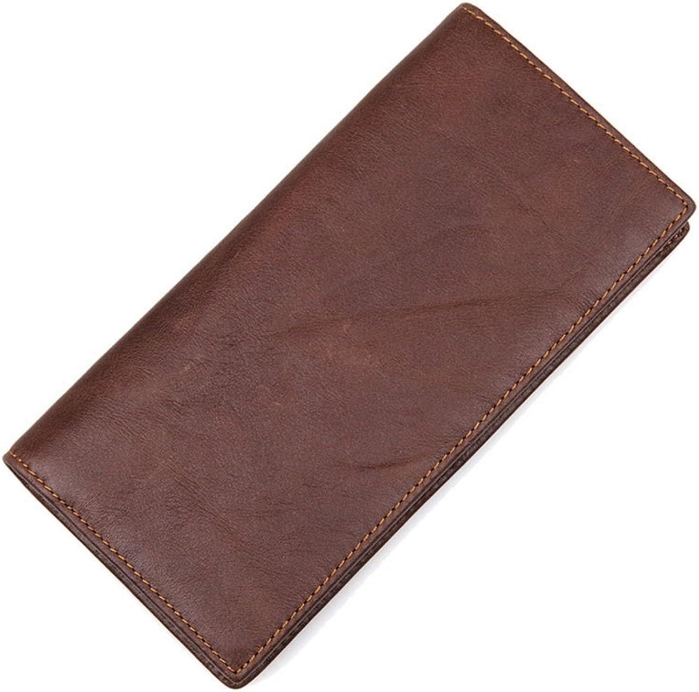 Yamyannie Herren Geldbörse Münzfach Herren Brieftasche Retro Retro Retro Crazy Horseskin Lange Brieftasche Multi-Card Wallet Vintage Geldbeutel Münzfach Wallet B07H19VXZ4 2b7200