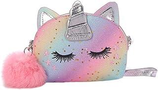 VALICLUD Schultertasche für Mädchen, Handtasche, Einhorn, kleine Schultertasche mit Pailletten, für Kinder
