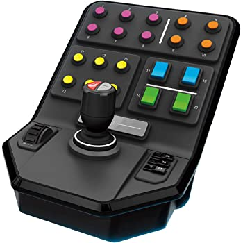 Logitech G Saitek Farm Sim Controller, Farming Simulator mit Steuerpult und Controller, 25 programmierbare Tasten, Tempomat, Schraubengewinde-Justierung, USB-Anschluss, PC/Mac/PS4, Schwarz