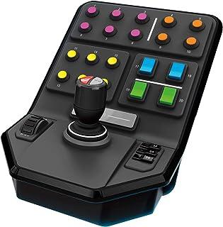 Logitech G Saitek Panel Lateral para Equipo Pesado, 25 Botones Asignables, Piloto Automatico Integrado, Carga Frontal, Palanca con Eje de Torsión, USB, PC/Mac, Color Negro