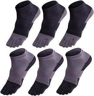 GINZIN, Hombres Deportes Cinco calcetines del dedo del pie 6 pares,cinco calcetines de los dedos,calcetines de deporte,calcetines cinco dedos hombre (1#)