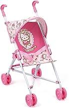 Hauck Toys for Kids - Silla de paseo ligera para muñecas Go-S/Cochecito de juguete plegable con capota - Hello Kitty Edition - Rosa