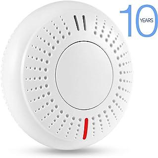 Sendowtek Alarma de Humo Independiente Vida útil de La Batería de 10 Años Detector de Humo con Certificación TUV EN14604 CE/ROHS Voz de 85dB para Escuela/Dormitorio/Cocina/Oficina/Hogar