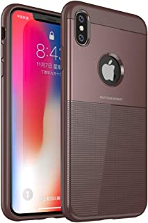 Compatible 2018 New iPhone Xs Max, iPhone 6.5 inch Case, DEMEDO Armor Series, Soft and Lightweight TPU Protective iPhone Xs Max Cover Case, Coffee