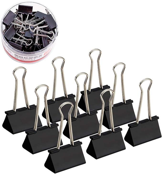 411 opinioni per Media nero carta Binder clip morsetti, Coideal 24 Pack 1 1/4 pollici metallo