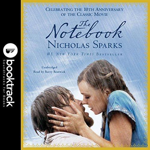 The Notebook     Booktrack Edition              By:                                                                                                                                 Nicholas Sparks                               Narrated by:                                                                                                                                 Barry Bostwick                      Length: 6 hrs and 3 mins     34 ratings     Overall 4.5