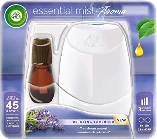 Airwick Essential Mist Automatic Fragrance Mist Diffuser Kit (Machine + Relaxing Lavender refill - 20 ml)