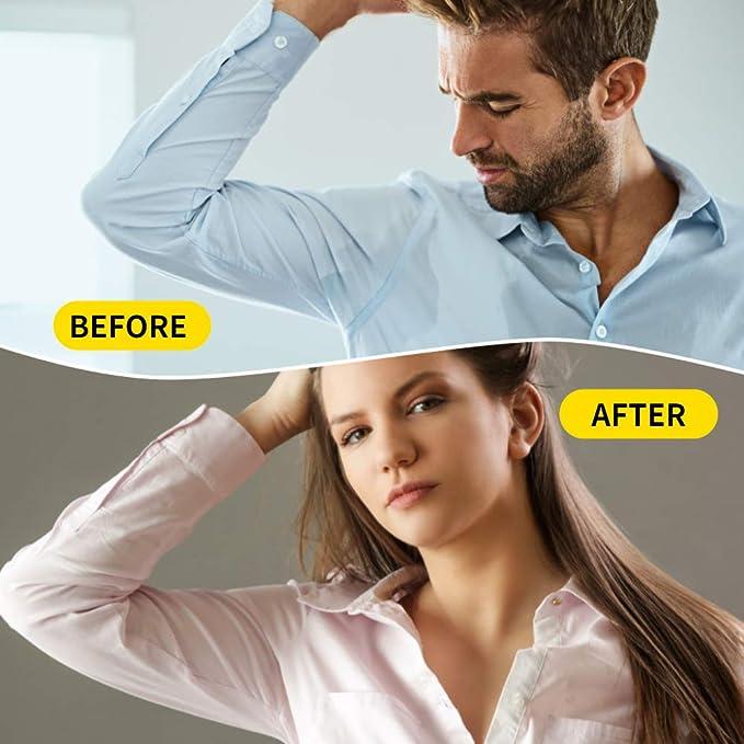 Achelpads, Desechables almohadillas para el sudor de axilas protección contra el sudor y desodorante manchas, puro del color es suave absorbente ...